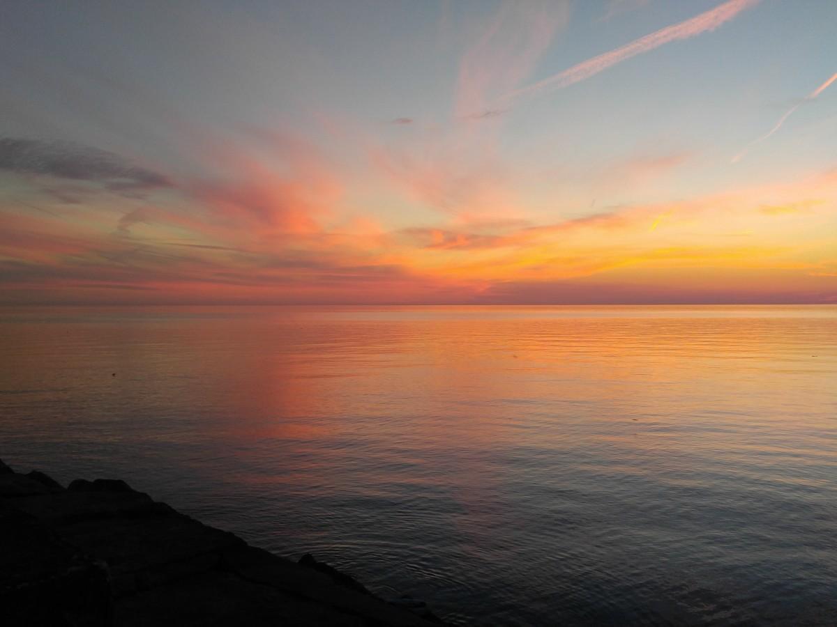 The most beautiful sunsets around - Lake Ontario, Oswego NY