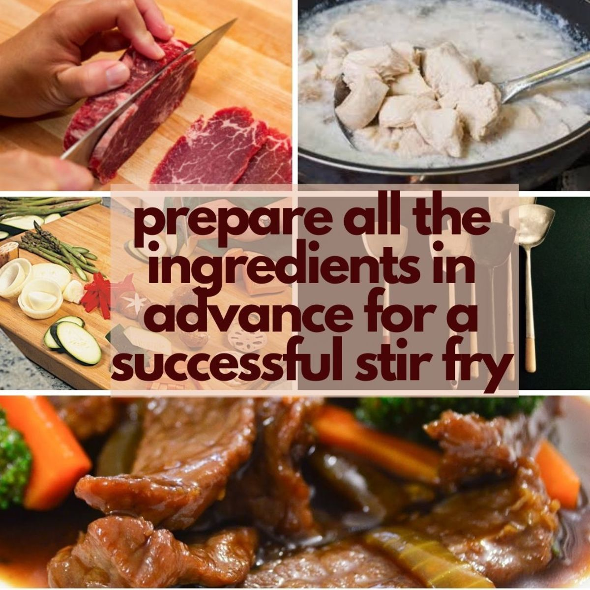 Preparing all ingredients in advance is one of the key secret to a successful stir fry
