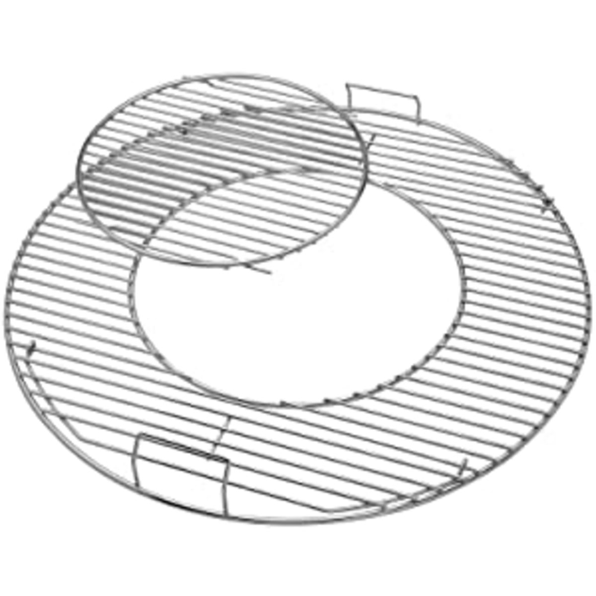 Use this removable center grill grate for your coal-fired grill to place your wok over when you do stir fry recipe