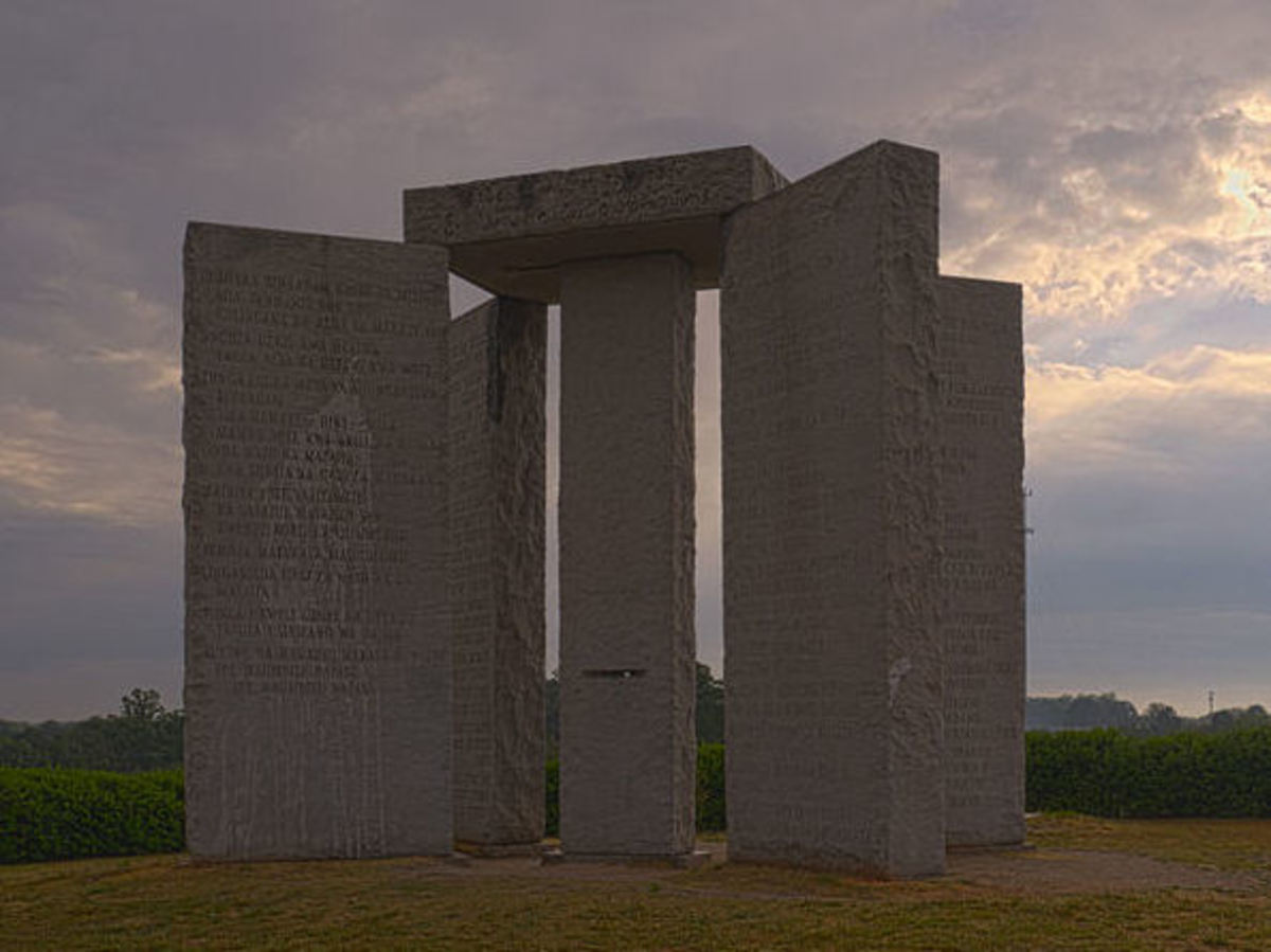 The Georgia Guidestones suggesting the rules for the Age of Reason.