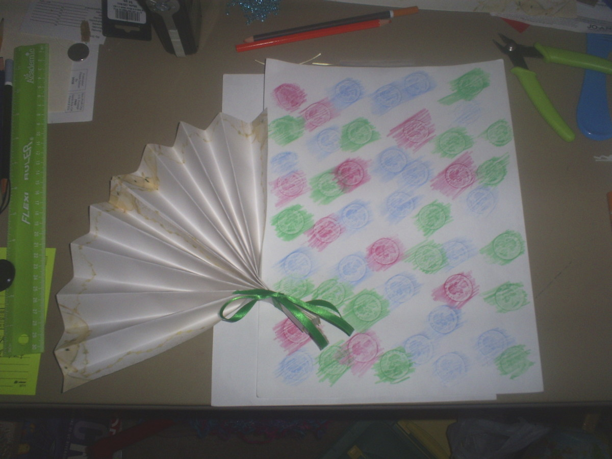 Create a paper fan and unique stationery.  (Photo Taken By Sweetiepie On Hubpages)