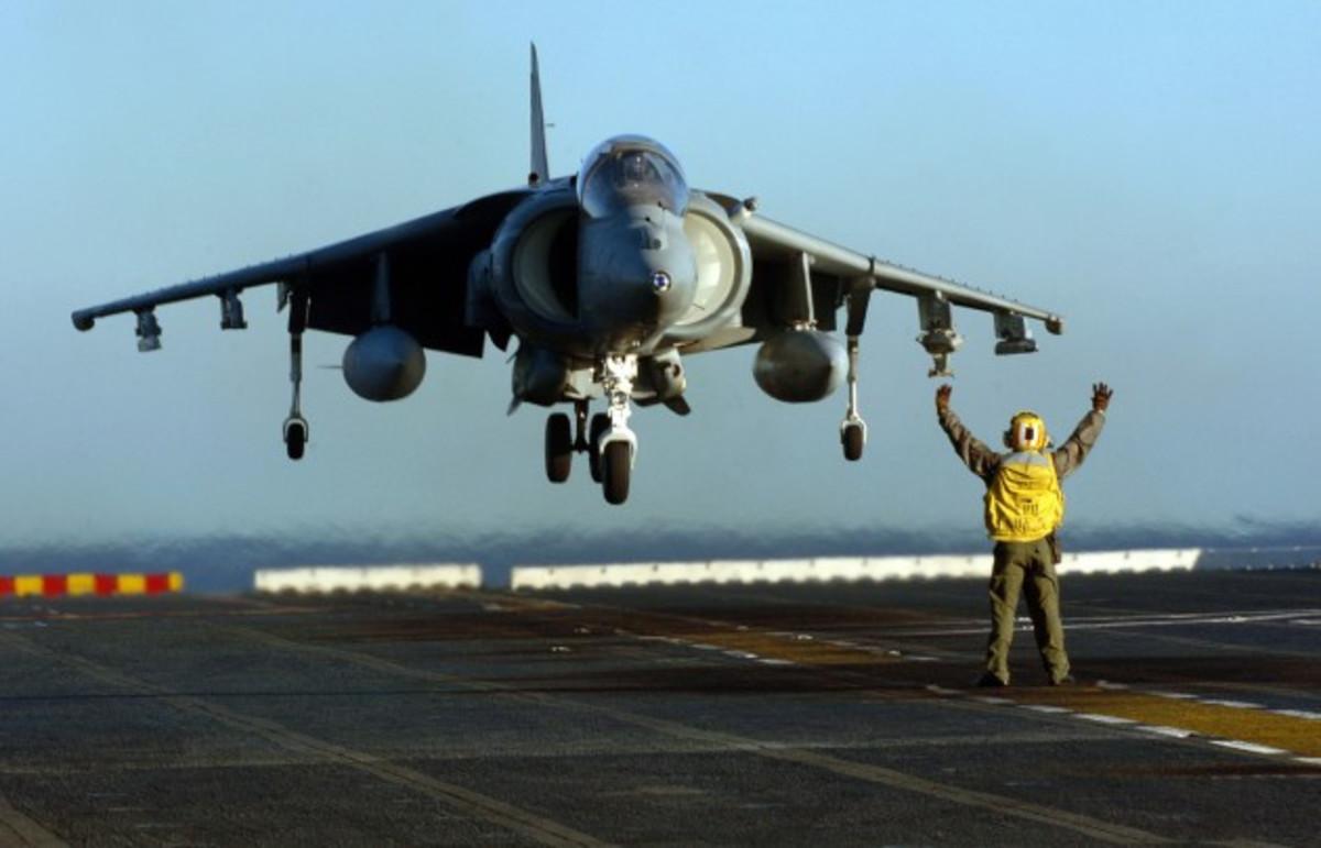 The Harrier jump jet.