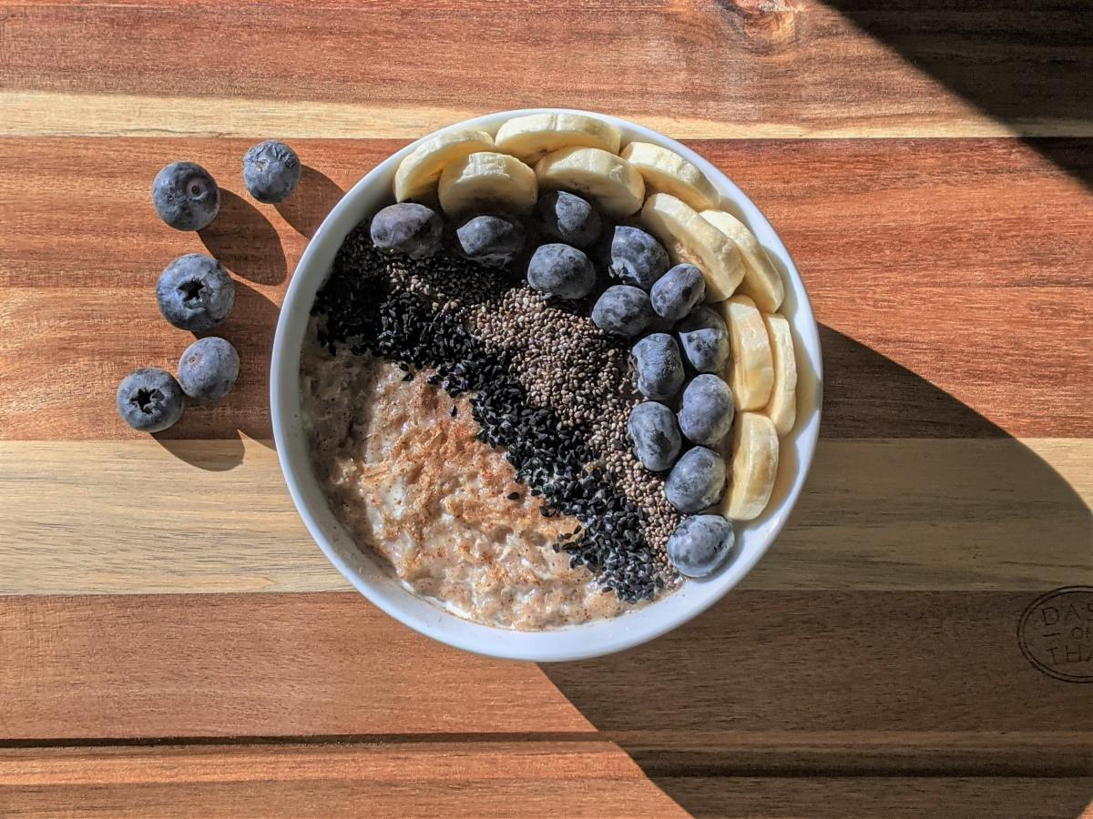 Top your breakfast bowl with chia seeds to kickstart your morning!
