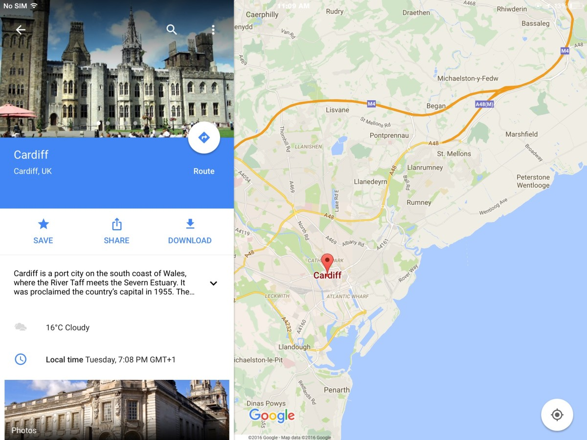 A scene from Google Maps