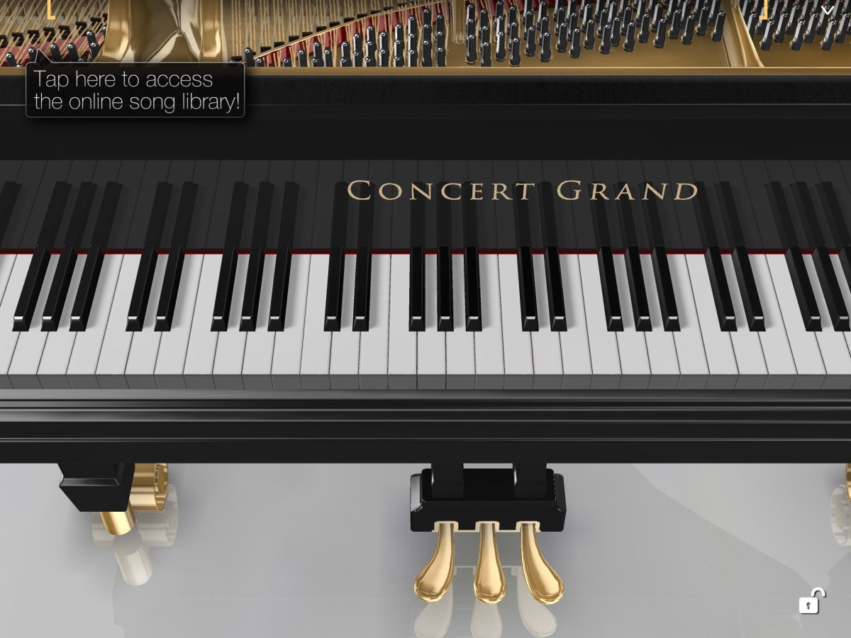 A screenshot of Piano 3D on my iPad