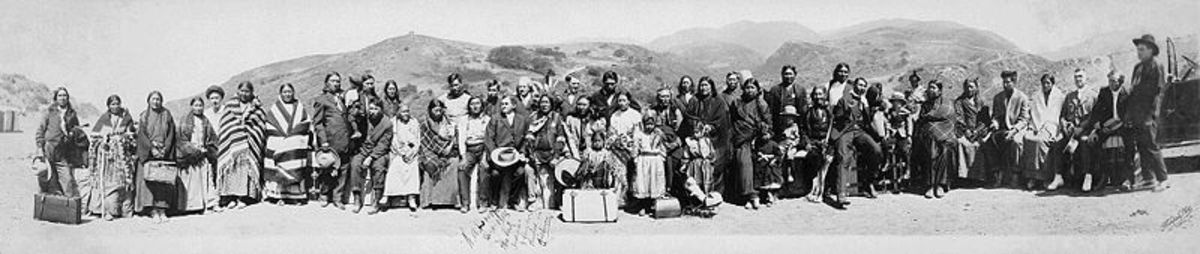 A group of Californian Native Americans