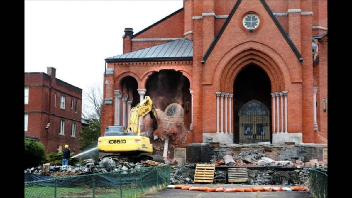 Saint Patrick's was demolished in 2013, and now, a Price Chopper sits on top of the plot of land.