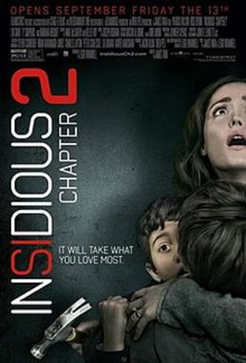 Insidious 2 Revolves around the husband under the influence of a malevolent, murderous ghost pushing him to commit murders.