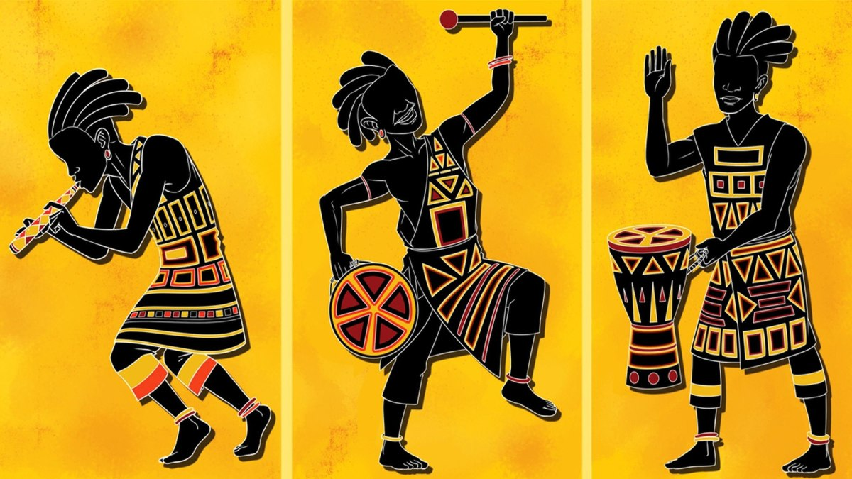 African traditional dancing