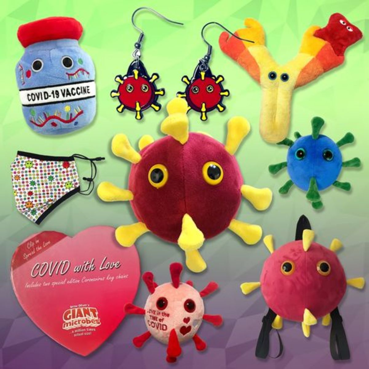 Giant Microbes Covid-19 collectibles, bizarre toys based on actual microbes