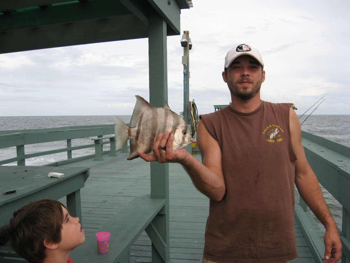 Cory with a spadefish.