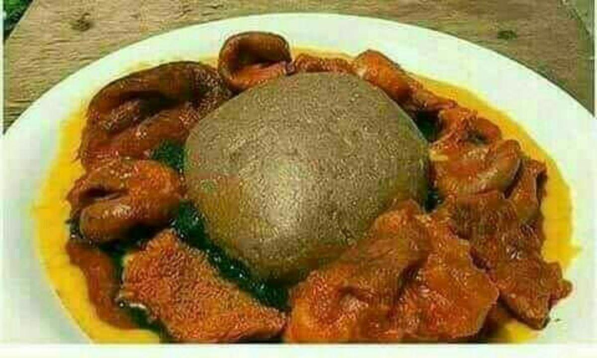 "Yoruba Bolus Food called ""Amala"""
