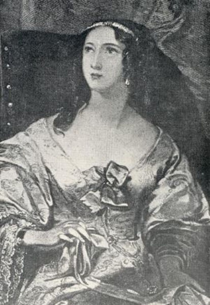 A compelling image of Julie, Edward's mistress for twenty eight years.