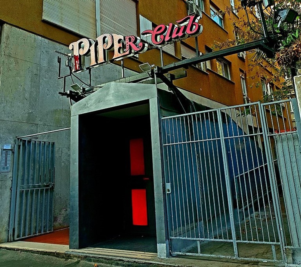 The exterior of the Piper Club.