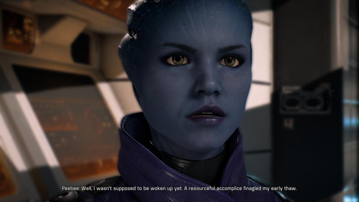Peebee first mentions Kalinda.