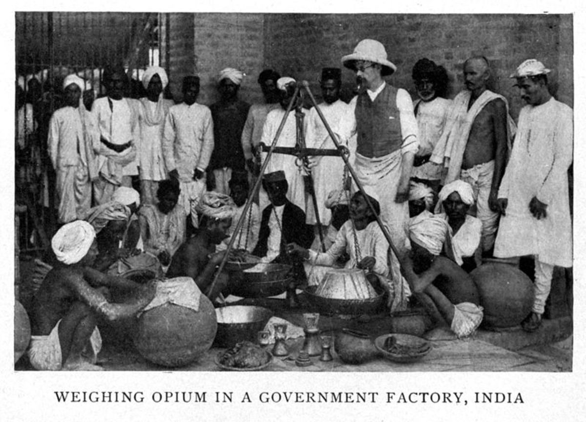 The East India Company made a lot of money out of the opium trade causing impoverishment among the Indian farmers who grew poppies and death among the Chinese consumers.