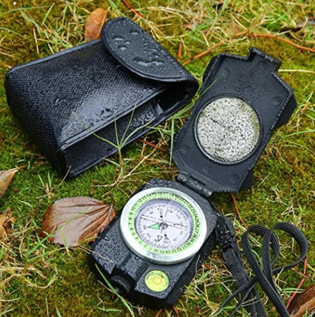 Sportneer Lensatic Military Compass with Clinometer, Waterproof Multifunctional Survival Compasses with Distance Calculator