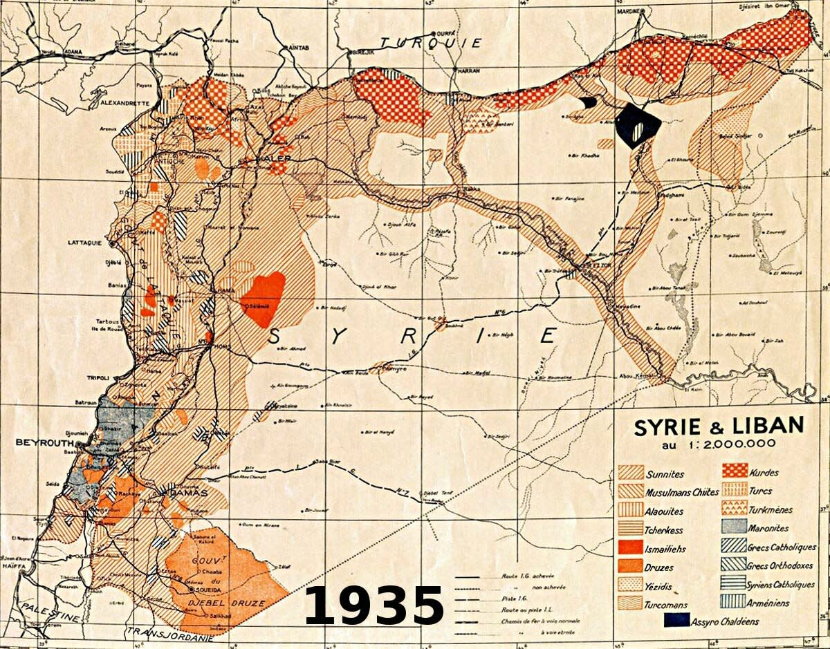 The ethnic diversity of French Syria and Lebanon was rather staggering