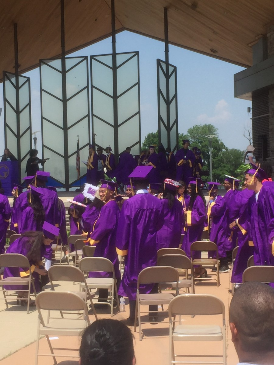 The Gavit class of 2021 prepares to exit their graduation ceremony