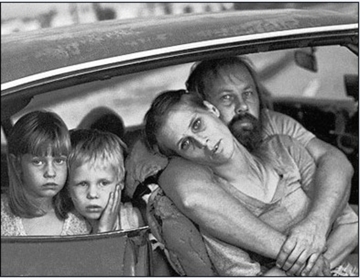 Homeless Family Living In Car