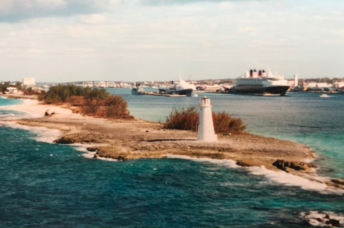 The entry to the port in Nassau, Bahamas