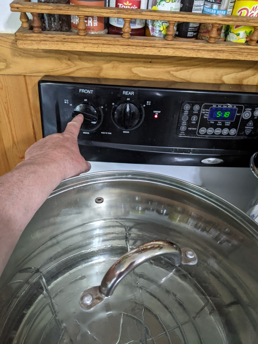heat water to boiling