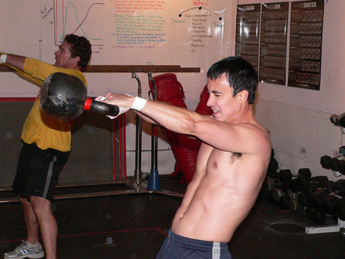 Image of a person working out.