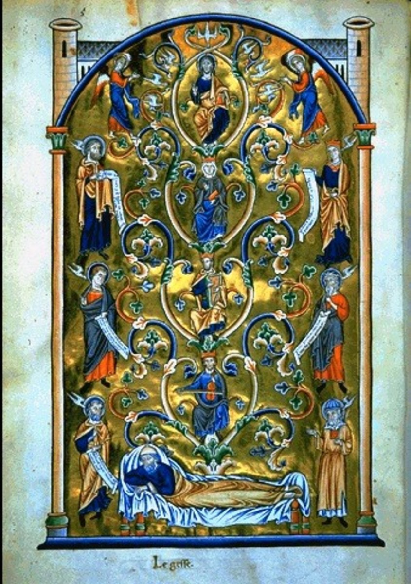 The Tree of Jesse illumination 12th-14th century, Anonymous