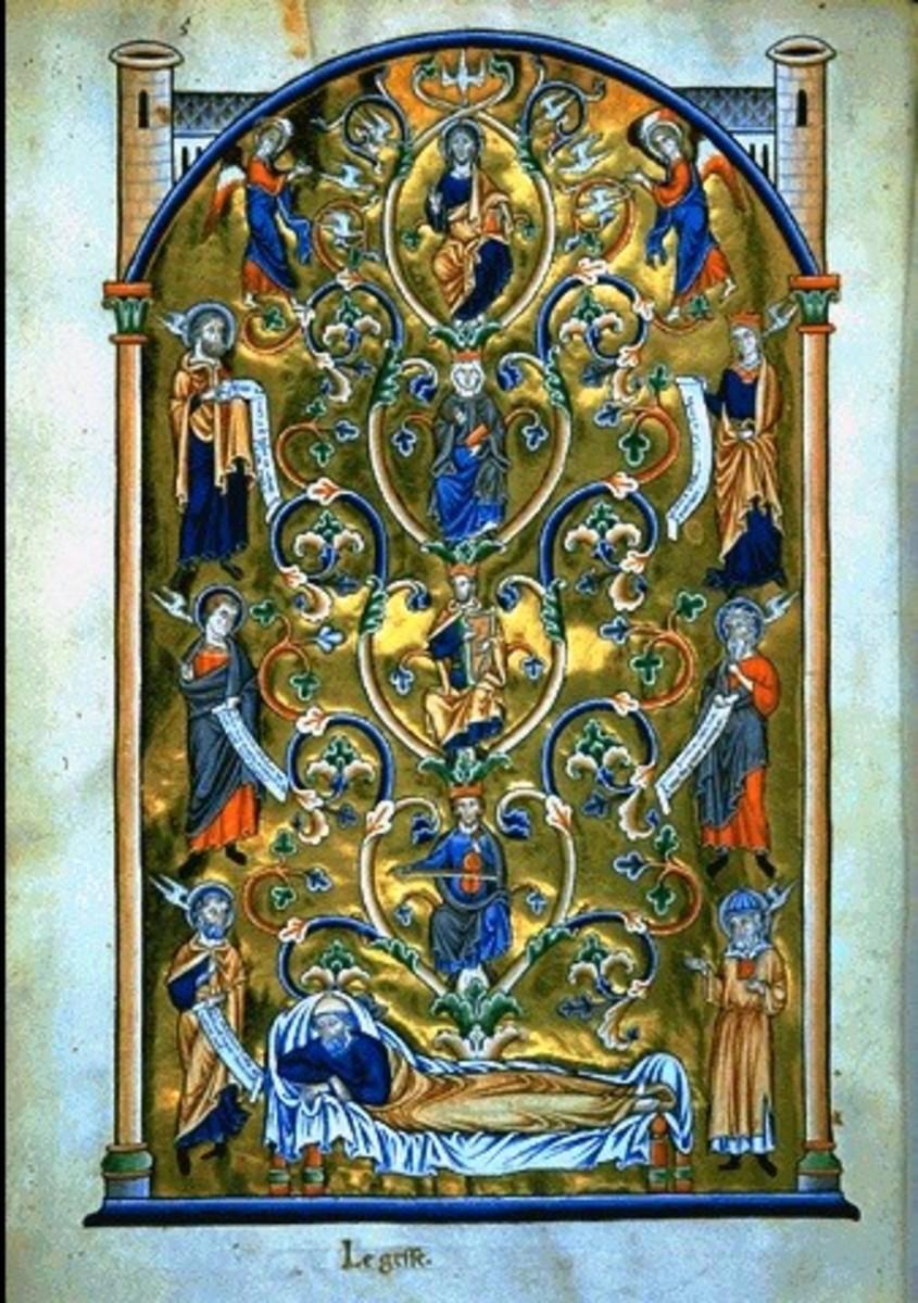 The Tree of Jesse illumination 12th-14th century, Anonymous