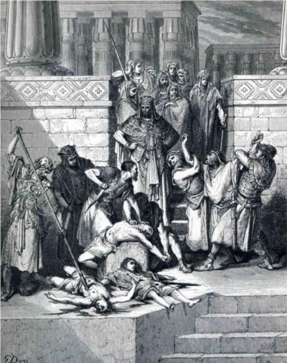 Slaughter of the Sons of Zedekiah before their Father, Gustave Dore (1832-1883)