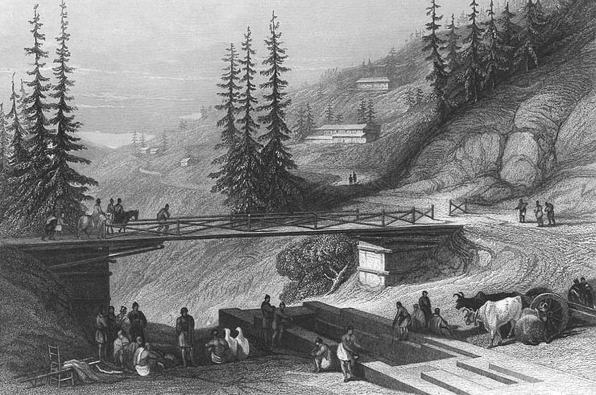 Combermere Bridge,Shimla in 1850