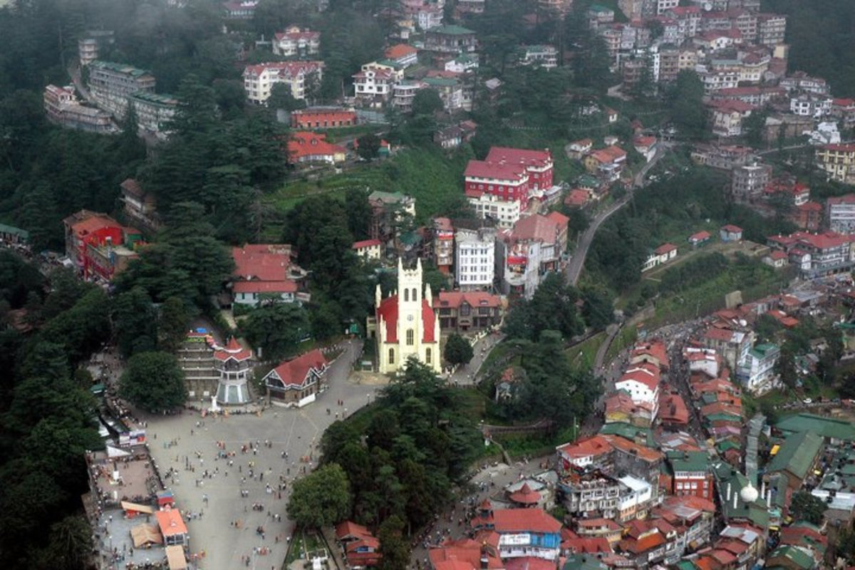 Aerial view of shimla