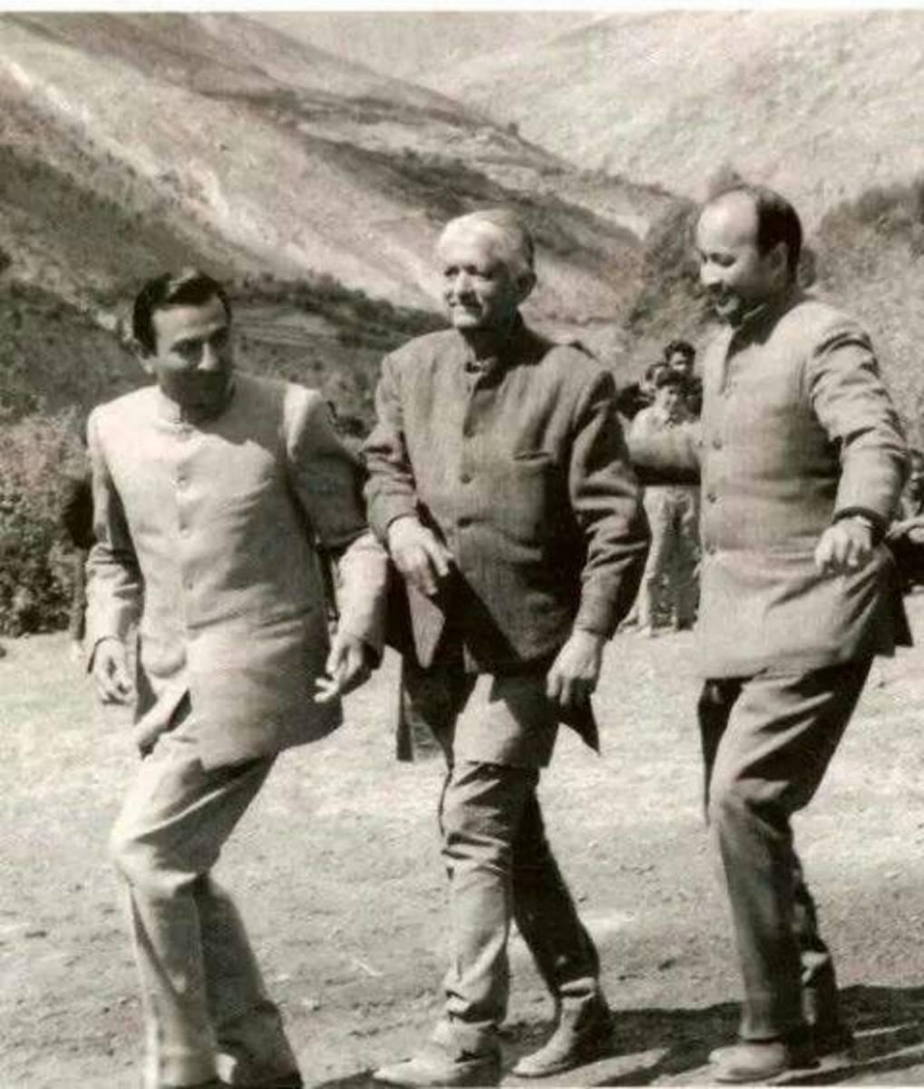 Ram Lal Thakur, YS Parmar and Virbhadra Singh