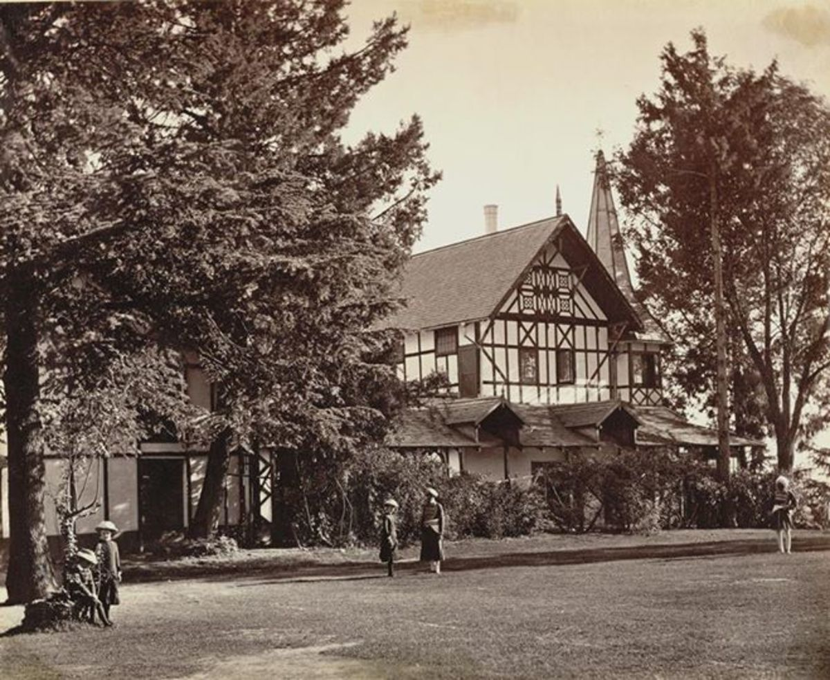 Barnes Court, the official residence of the Commander-in-Chief in India from 1849 to 1865 and was named after General Sir Edward Barnes, 1882. Now the residence of the Governor of Himavhal.