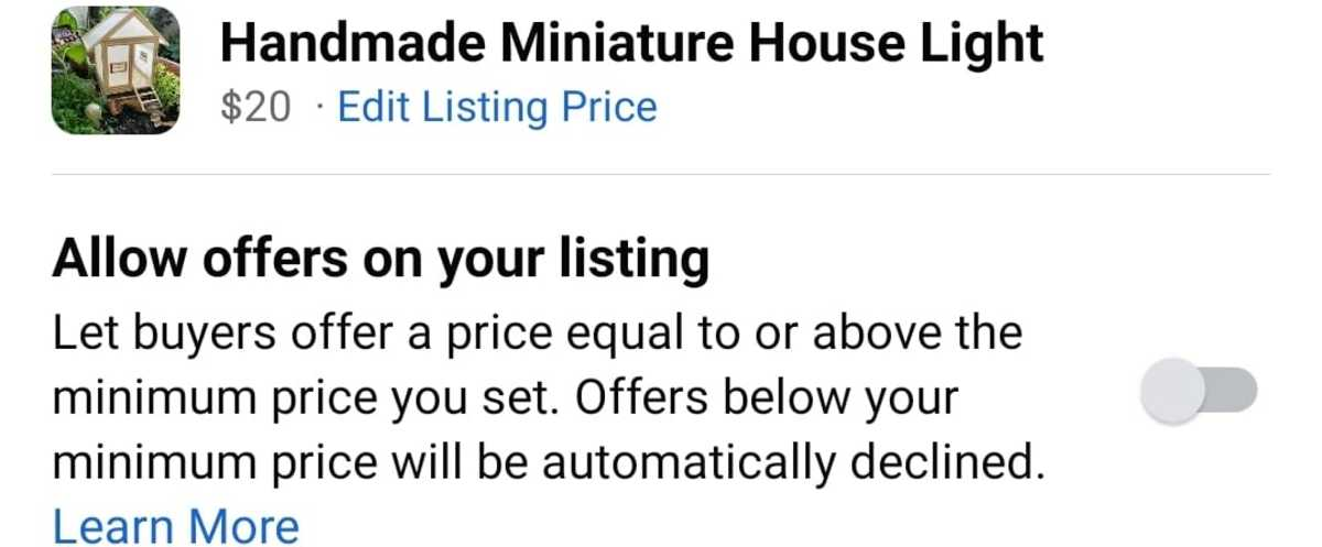 Turn this on to allow buyers to offer a price.