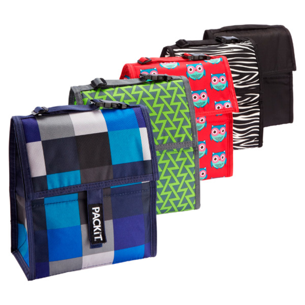 Available in over 40 different styles and color combinations. From wine coolers to shopping bags PackIt offers a cool solution for all your lunch needs.