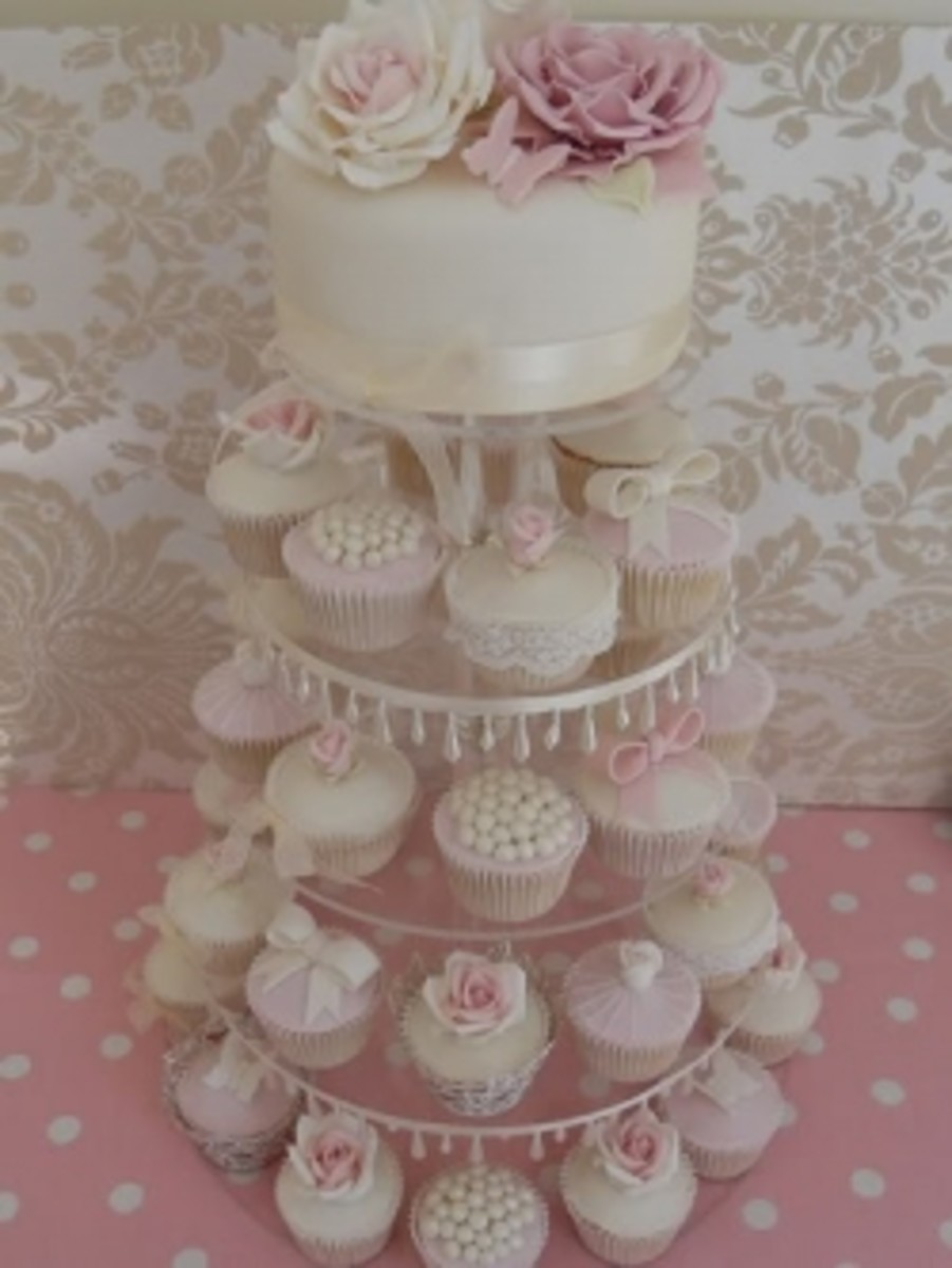 Beautiful wedding cupcake tower.