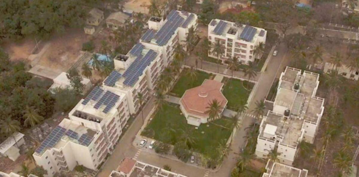 Installation and Commissioning of 450KWp Solar Power Plant at Sathya Sai Grama, Muddenahalli