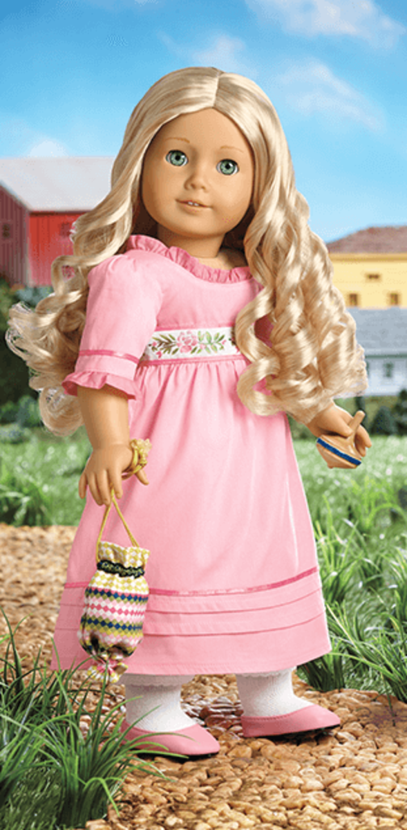 A Caroline doll in her Meet Outfit