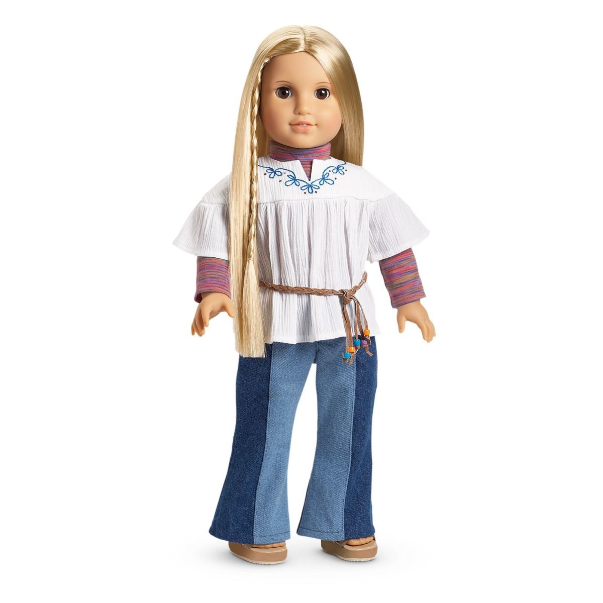 The original version of the Julie doll, dressed in her Classic Meet Outfit