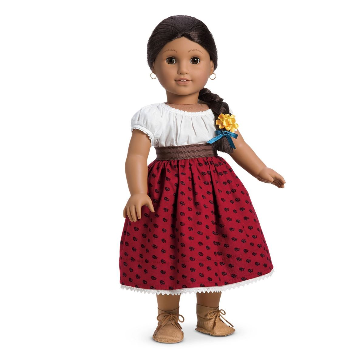 The Josefina doll, dressed in her original Meet Outfit