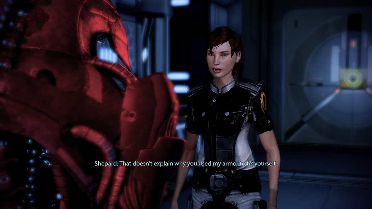 Shepard interrogates Legion.