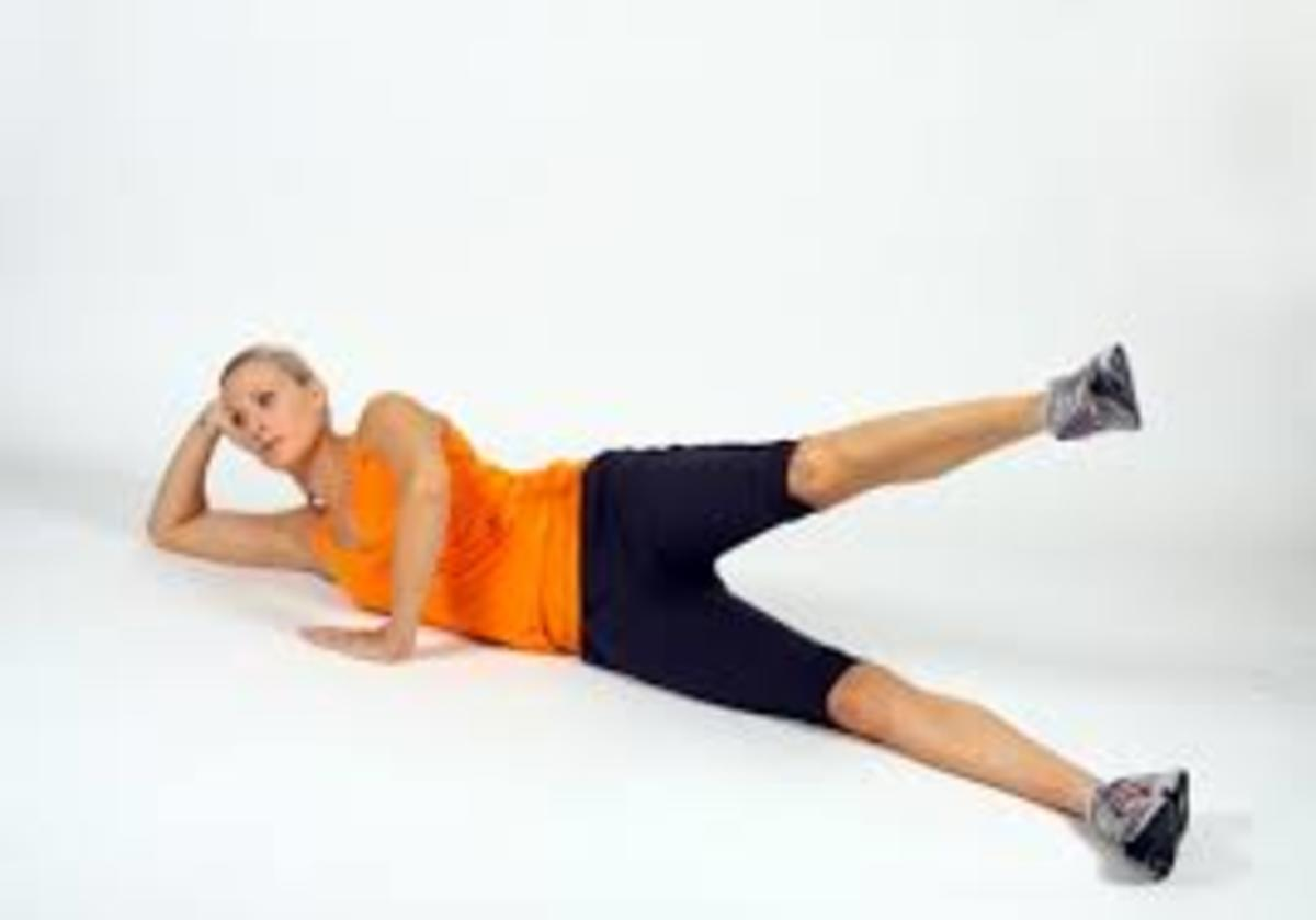 lying leg abduction for outer thighs