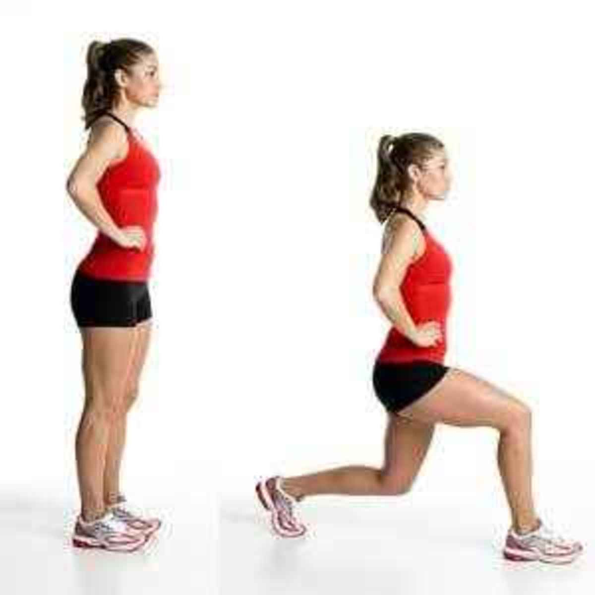 front lunges make thighs slim