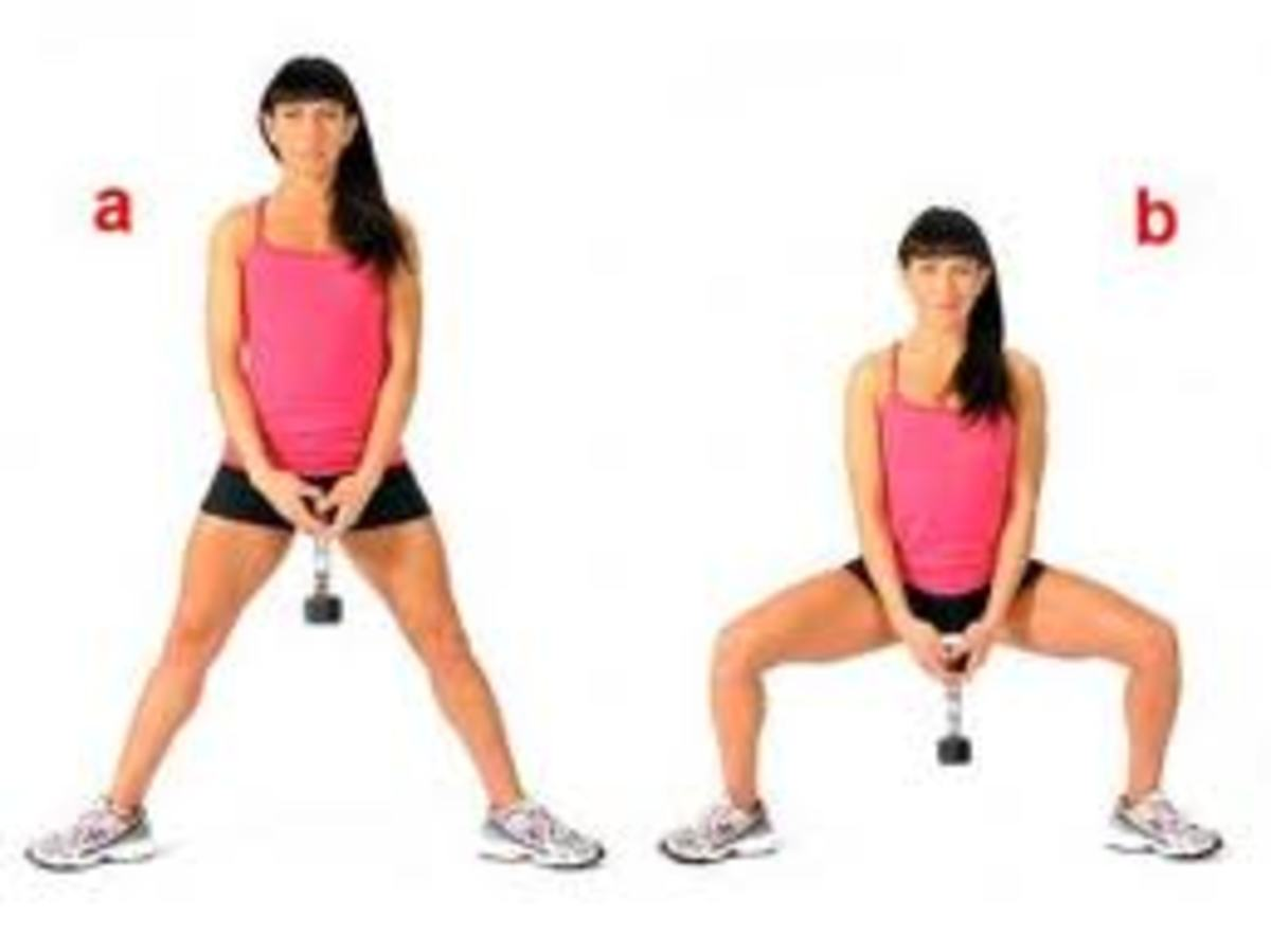 sumo squat for toning thigh adductors