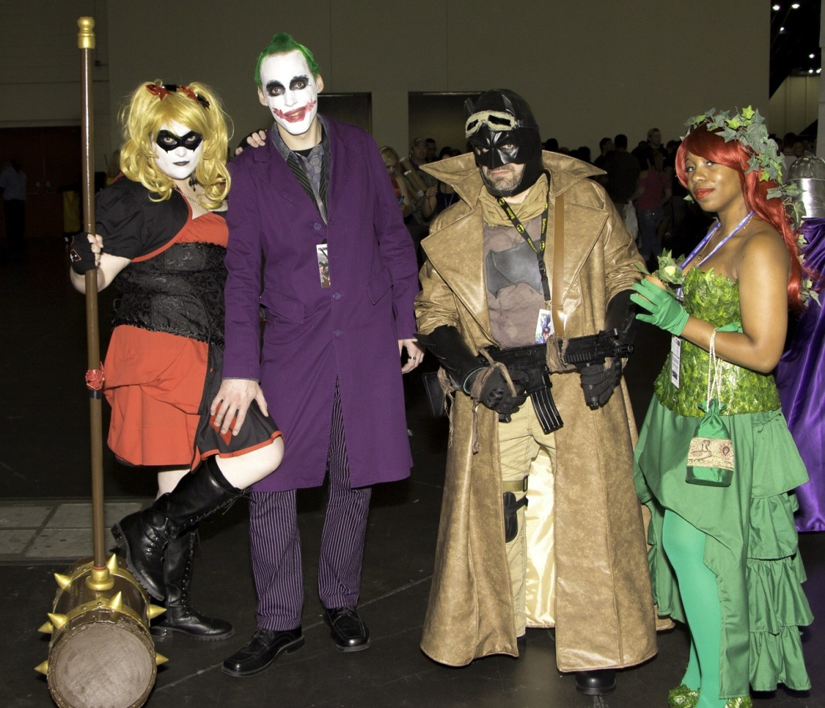 My wife, myself, and some of our friends dressed as Batman villains from Comicpalooza 2016.