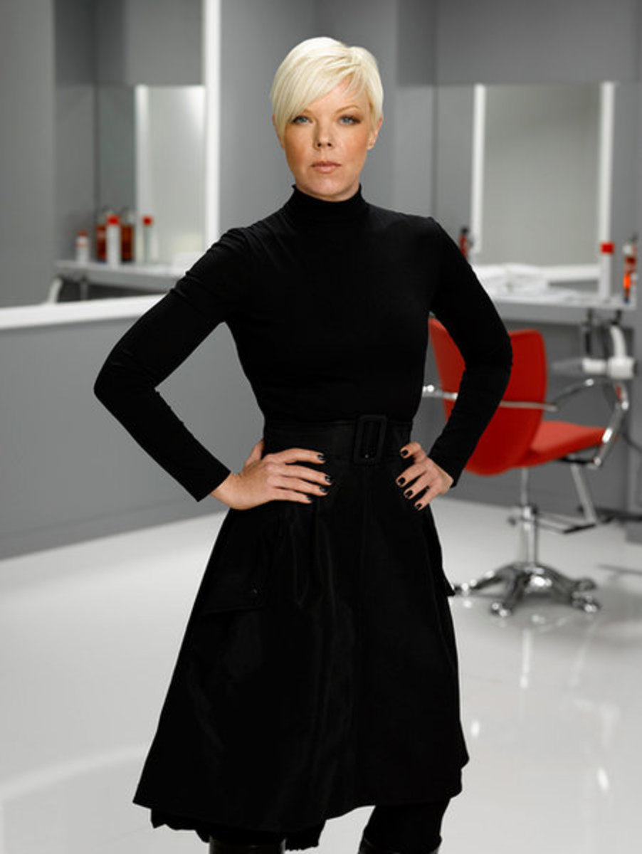 Tabatha Coffey's trademark pixie haircut.