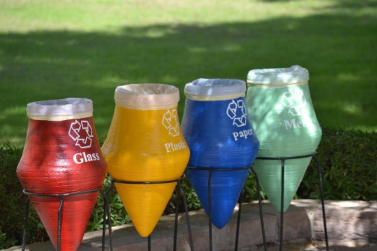Recycling bins in Egypt