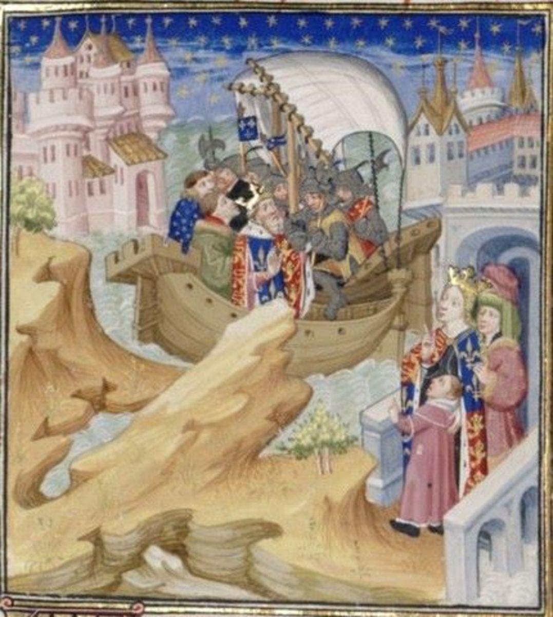 A romanticised depiction of Edward II's arrest.