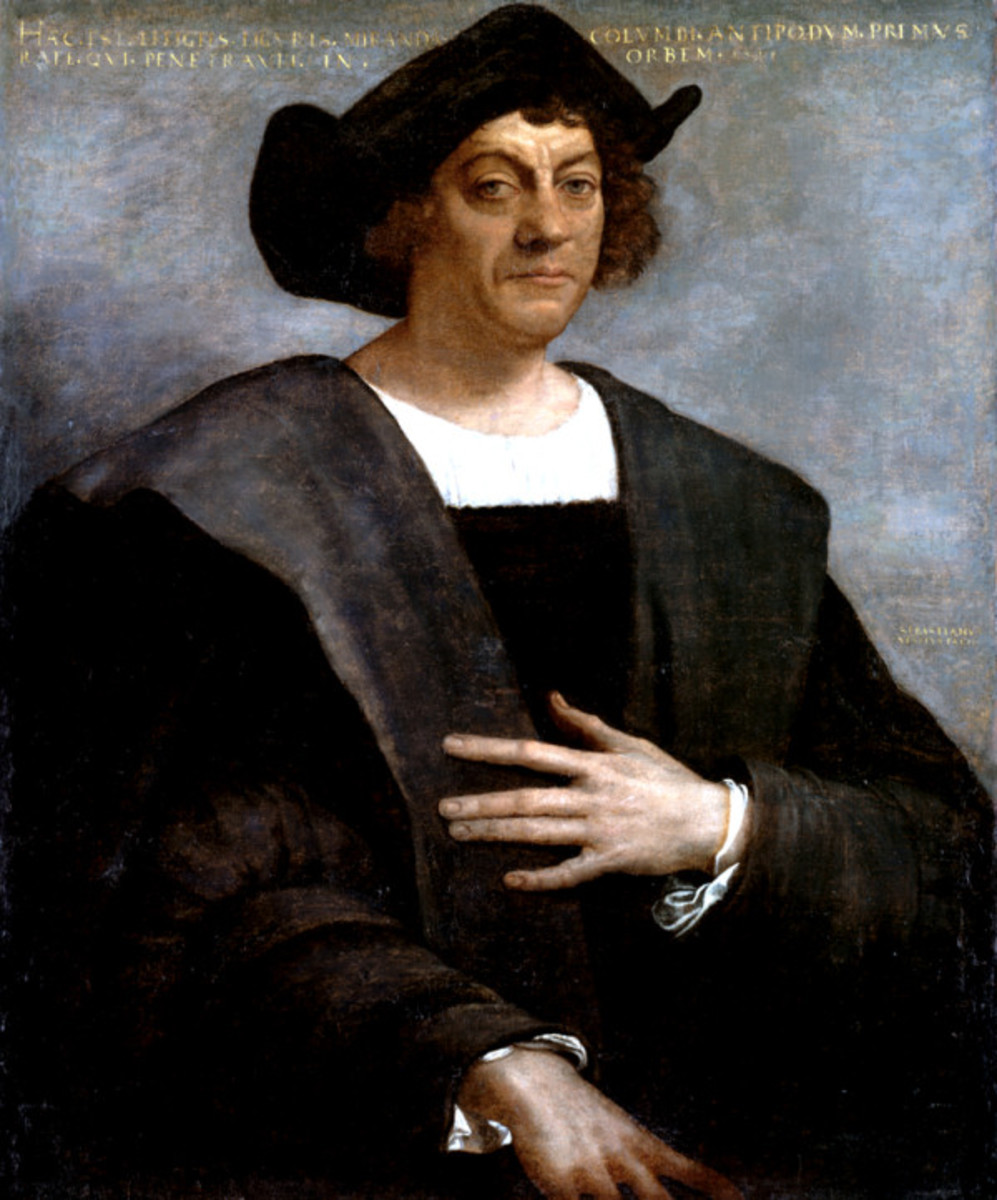 Christopher Columbus. Portrait by Sebastiano del Piombo uit 1519
